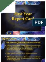 Exhibit G.1- KPIs Met First Year Report Card v3.0