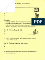 Writing Process Notes and Handouts