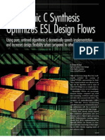 Algorithmic C Synthesis Optimizes ESL Design Flows