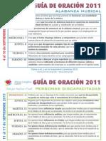 Guía Oración 2011 Septiembre