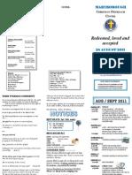 Newsletter 28 August 2011