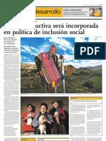 Sierra productiva serà incorporada en política de inclusión social