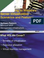 TechNet MSDN ITPROADD Transitioning Windows Server Virtualization
