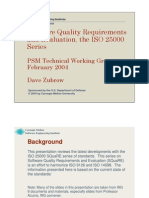 Software Quality Requirements & Evaluation - IsO 25000