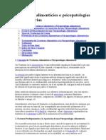 Trastornos alimenticios o psicopatologías alimentarias