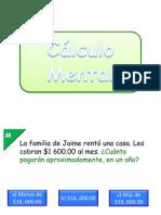 Power Point Matematicas 6to grado calculo mental 2011-2012