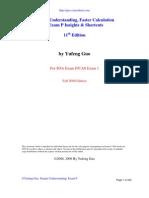 Deeper Understanding, Faster Calculation  --Exam P Insights & Shortcuts