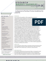 LTRC Capsule 09-2B Development of Surface Friction Guidelines for LADOTD