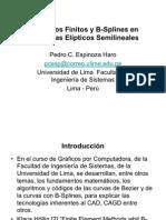 Elementos Finitos y B-Splines en Problemas Elípticos Semilineales