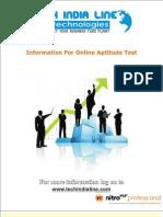 Aptitude Test Details - Tech India Line
