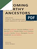 Becoming Worthy Ancestors