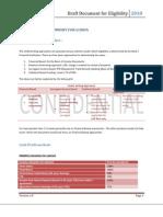 Eligibility Document