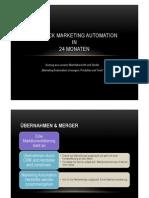 Ausblick Marketing Automation - Entwicklung in den nächsten 24 Monaten (Studie)