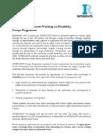 Disability Internship - Europe Programme