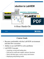 Introduction to LabVIEW 8.6 in 6 Hours