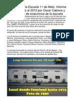 Historia de escuela 11 de Melo. 100 años