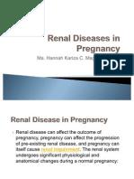 Renal Disease in Pregnancy