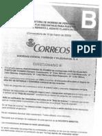 Examenes Correos 2008 y 2009