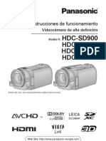 Manual Panasonic hdc sd900 tm900 hs900