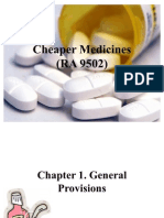 Cheaper Medicines Act [Revised]