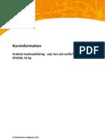EFO220 kursinformation 2011
