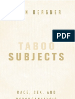 Taboo Subjects Race Sex and Psychoanalysis