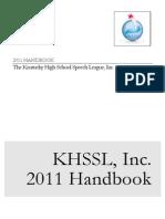 2011 KHSSL Handbook