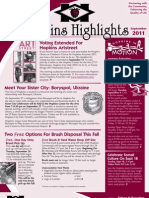 Hopkins Highlights - September 2011
