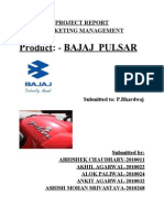 MM Project Report(Bajaj Pulsar)