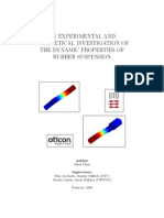 An Experimental and Theoretical Investigation of the Dynamic Properties of Rubber Suspension