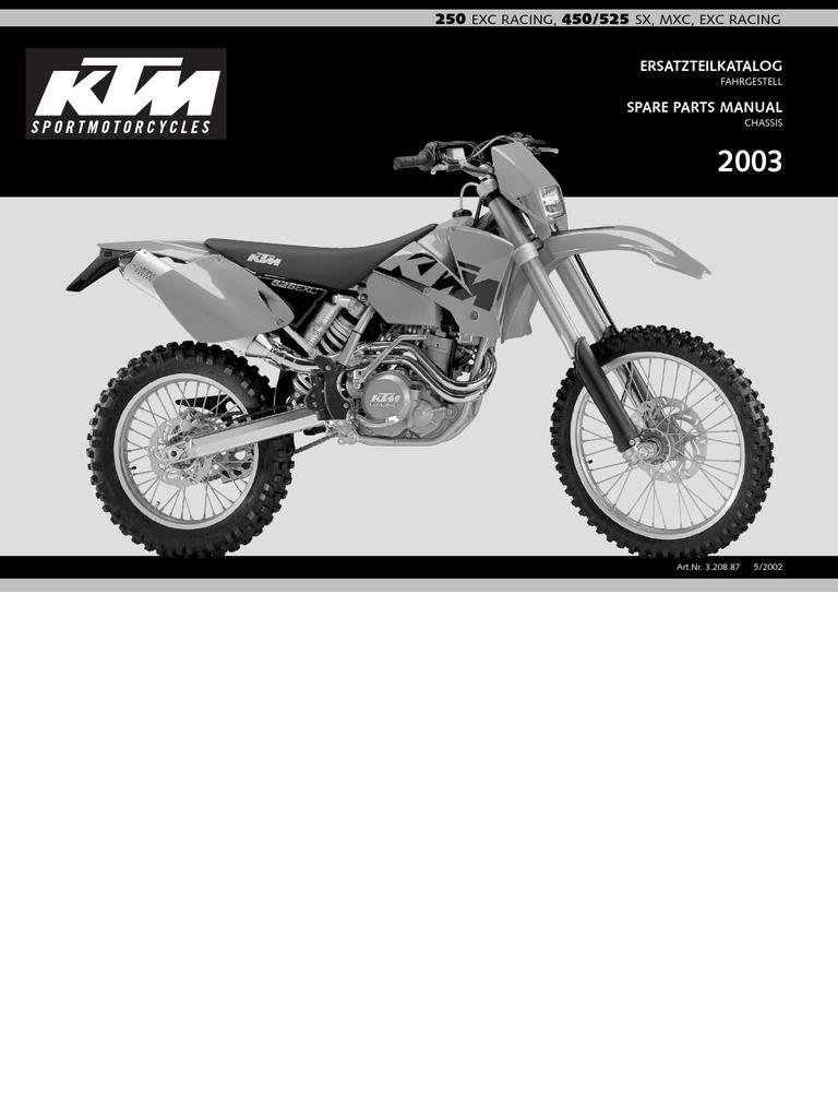 Motorrad Gabelprotektor Satz weiß fork protector set white KTM SX EXC Racing