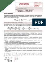 TALLER No. 4 - DIVISIÓN DE POLINOMIOS