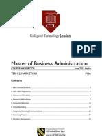 MBA T2 MKT Course Handbook JUN 2011