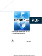 Ansoft HFSS v11 a Waveguide T-Junction