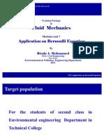 CH7Application on Bernoulli Equation