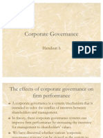 Handout 6 Corporate Governance