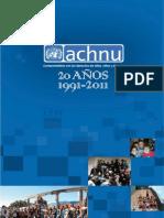 ACHNU 20 años 1991-2011