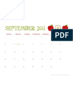 Septemeber 2011 Calendar - The Twinery