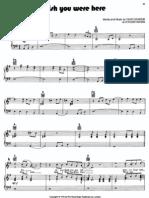 [Sheet Music - Piano Score] Pink Floyd _-_ Wish You Were Here(1)