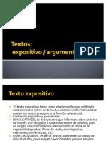 Textos expositivo argumentativo
