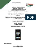 Análisis de Objeto Técnico El iPhone 3G