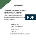 Cvp Analysis by Sahil Andotra