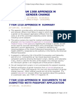 USA Passport Gender Change