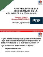 Conferenca Corresponsabilidad Agentes Educativos Manizales 2011
