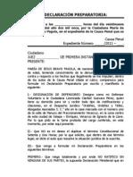 Declaracion Preparatoria Maria de Jesus Bravo Pagola