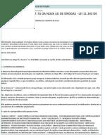 Defesa Preliminar (Art. 55 Da Nova Lei de Drogas - Lei 11
