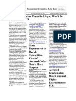 August 30, 2011 - The International Extradition Law Daily