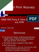 ASME PTC 25- PRV Test