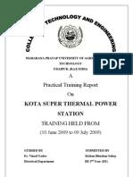 61145557 Training Report Ktps Final