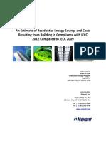 Utah - Nexant 2012 IECC Cost Analysis